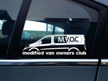 MVOC modified van owners club sticker - for Fiat Scudo 2nd gen LWB van (v2)